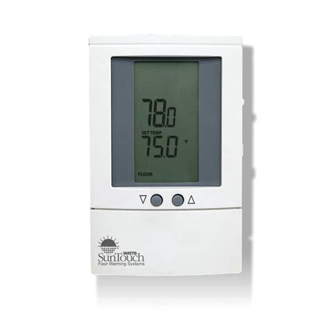 suntouch heated floor thermostat manual shop watts suntouch dual voltage programmable thermostat