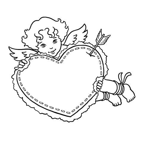 Kleurplaat Cupido by Leuk Voor Cupido Met Een Groot Hart