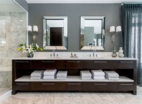 floor decor vanity atmosphere interior design bathrooms gray walls gray wall color white marble floor tile