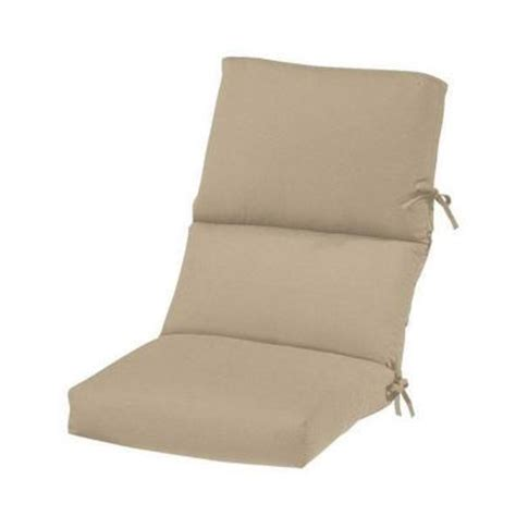 heather beige sunbrella high back outdoor chair cushion