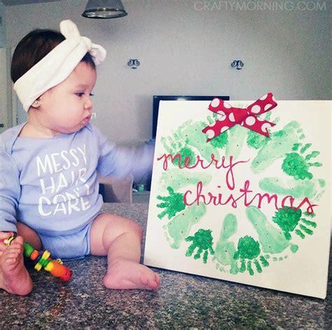 Handprintfootprint Christmas Wreath Craft  Crafty Morning