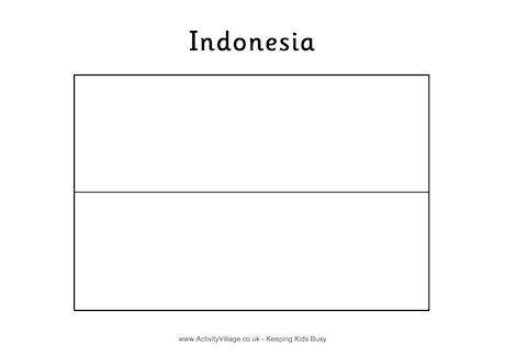 indonesia flag colouring page