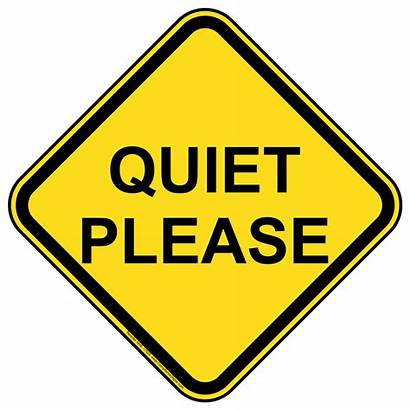 Quiet Please Sign Silence Clipart Clip Signs