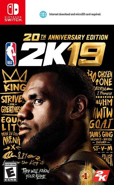 nba 2k19 switch edition anniversary 20th nintendo game release date xbox ps4 swappa gaming covers