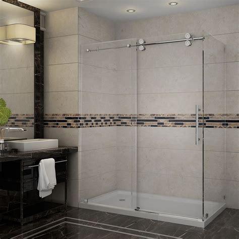 60 inch shower door aston langham 60 inch x 35 inch x 77 1 2 inch frameless 3934