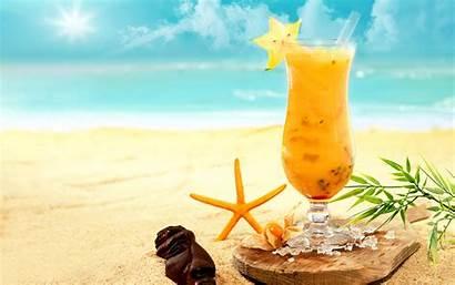 Cocktail Beach Bali Thailand Sand Sea Tropics