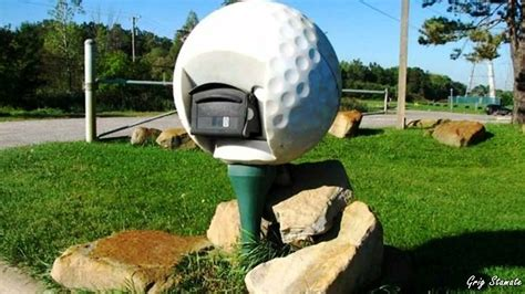 Creative Mailbox Showed By Golf Ball Pad With Its Function As Mailbox Creative Mailbox Ideas Shabby Chic Diy Projects Home Security Systems Mold Removal Shower Garage Shelving Wood Bag Making Ideas Tote No Sewing Necessary Pvc Hydraulic Cylinder %d0%bf%d0%bb%d0%b5%d1%82%d0%b5%d0%bd%d0%ba%d0%b0 Woven Bead Necklace