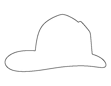 fireman hat template printable fireman hat template