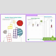 * New * Number Shapes Outlines Activity Pack  Eyfs, Early Years, Maths