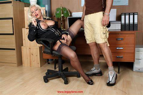 Mature Pantyhose Secretary Goes Through Job Interview