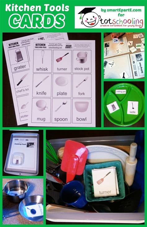 kitchen tools vocabulary sorting cards totschooling toddler preschool kindergarten
