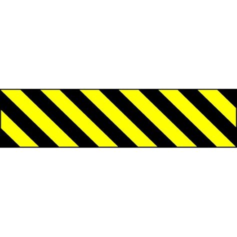 bureau des guides bande alu réfléchissante noir jaune stocksignes