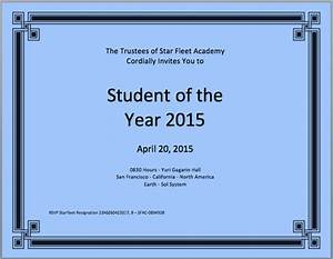 Student of the year certificate template microsoft word for Student of the year certificate template
