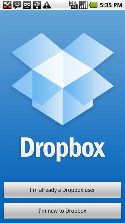 dropbox android dropbox announces android app