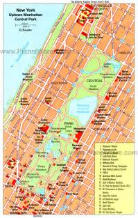 Central Park New York Map Manhattan