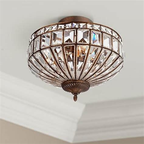 flush mount 19 24 in wide to ceiling lights ls plus