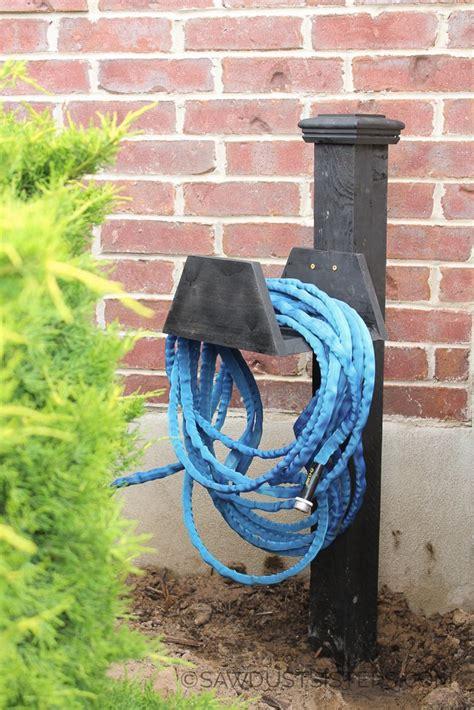 diy chunky garden hose holder sawdust