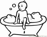 Hygiene Banyo Coloring Yapan Okul Boyama Cocuk Resmini Oncesi Ocuk Coloringpages101 Miscellaneous sketch template