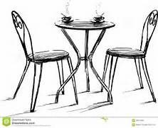 Cafe Table Clipart - Clipart Kid