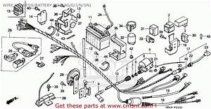 Honda C50 Cub 1992  N  Greece    Csw Wire Harness  Battery