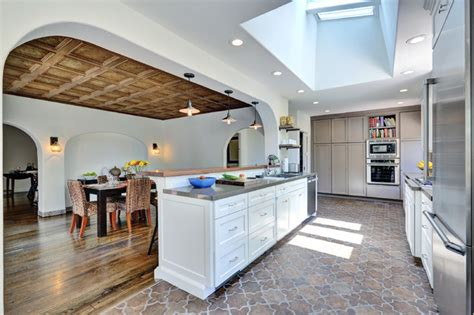 how to install tile in kitchen o brien residence mediterranean kitchen los angeles 8717