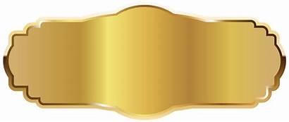 Label Clipart Labels Plaque Yopriceville Golden Transparent