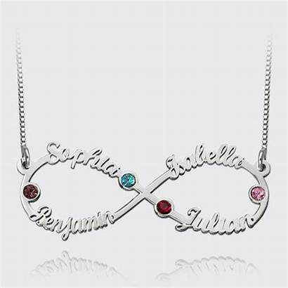 Infinity Necklace Birthstones Names