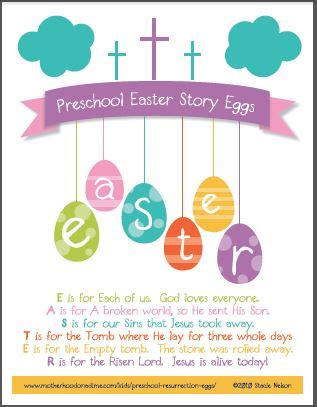 easter story eggs new printable for all ages 917 | preschool easter story eggs