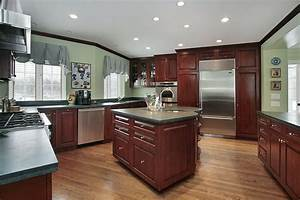 43 kitchens with extensive dark wood throughout green With best brand of paint for kitchen cabinets with wall mirror art