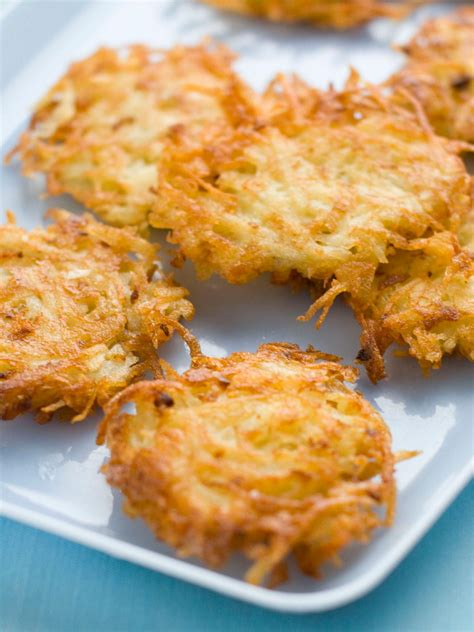 recipes for potatoes quick and easy potato latkes hgtv