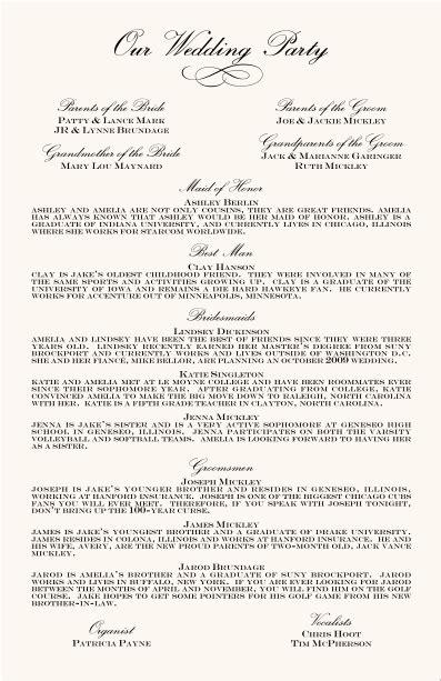 Exles Of Wedding Programs Templates by Wedding Programs Wedding Program Wording Program Sles
