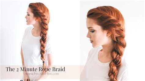 how to make stylish hair style the 2 minute rope braid hairstyle hairstyle the freckled 6447