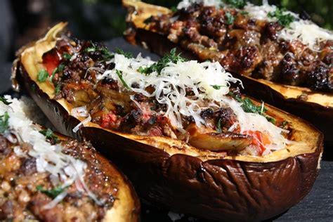 viande facile à cuisiner aubergine farcie à la grecque