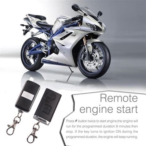 Moto Scooter Security Alarm System Anti Theft Motorcycle