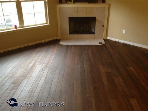 Diagonal Concrete Wood Floor