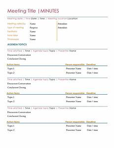 minutes officecom With minutes for meetings template