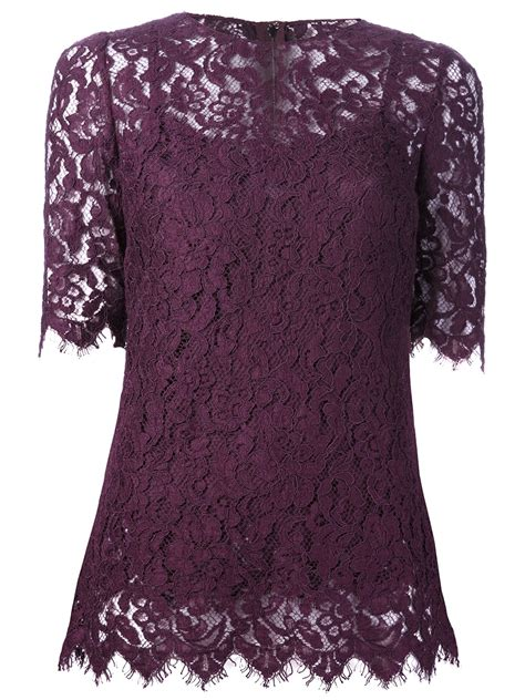 blouse lavender dress dolce gabbana lace blouse in purple pink purple lyst