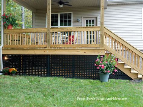 porch skirting vinyl lattice panels porch landscaping