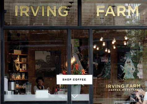 I like to go when i am in the nyc. Irving Farm Coffee Roasters - Awwwards Nominee
