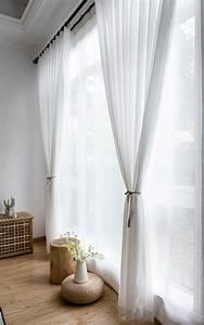 Gardinen Häkeln Modern : moderne gardinen wei aus chiffon f r wohnzimmer transparent in 2020 gardinen modern gardinen ~ Watch28wear.com Haus und Dekorationen