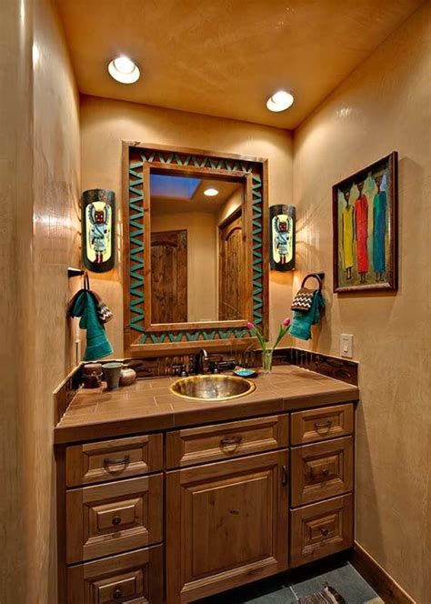 Western Themed Bathroom Ideas by Best 25 Southwestern Bathroom Sinks Ideas On