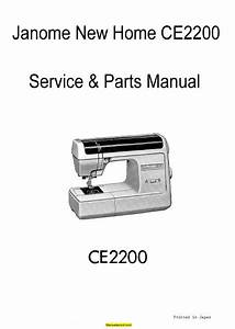 Janome New Home Ce2200 Sewing Machine Service