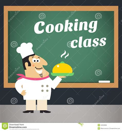 culinary cuisine cooking class advertising poster stock vector