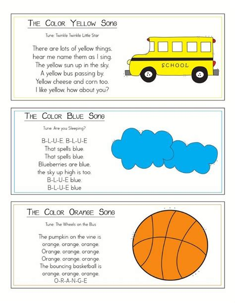 color songs ring scribd kindergarten songs school