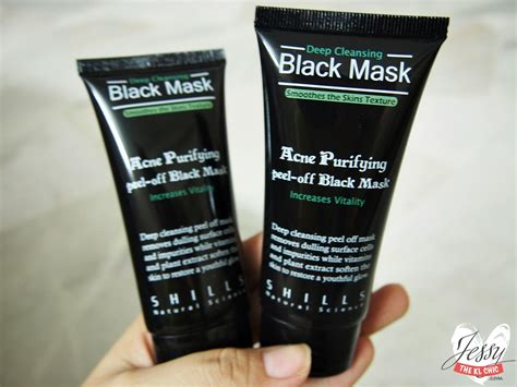 shills black mask purifying peel mask review