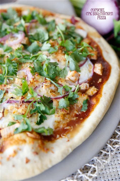 homemade california pizza kitchen bbq chicken pizza