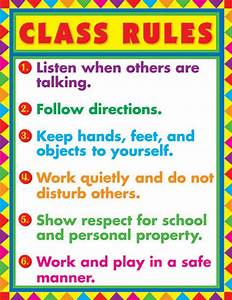 Class Rules Chart by Carson-Dellosa CD6296 Really Great Toys