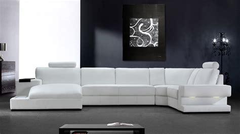canape blanc cuir design canapé d 39 angle cuir lumineux canapé d 39 angle cuir