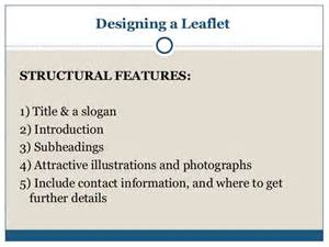 What Of Information Should Be Included On A Resume by Leaflet Writing Presentation