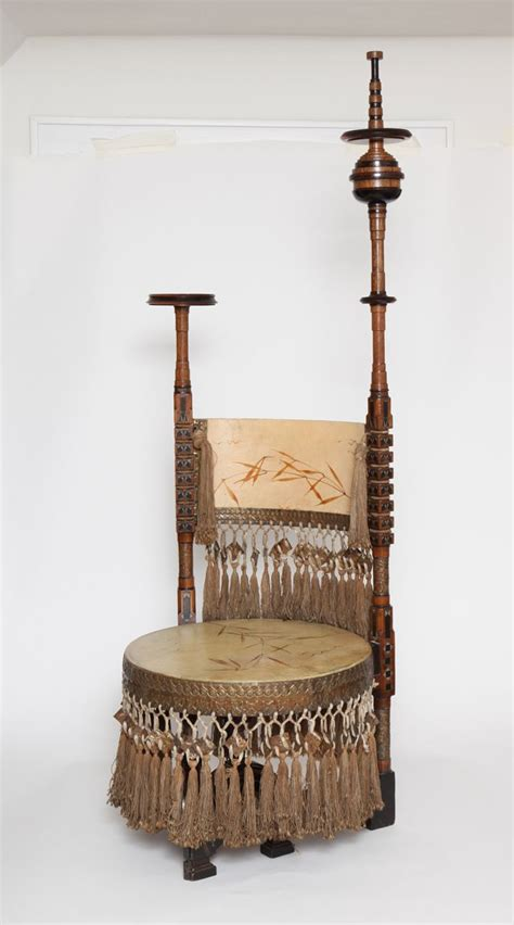 Deep seated, richly upholstered, overstuffed sofas and lounge chairs that are as covetable as they are comfortable. Carlo Bugatti Throne Chair, Milano, c. 1898. image 3   Chair, Art chair